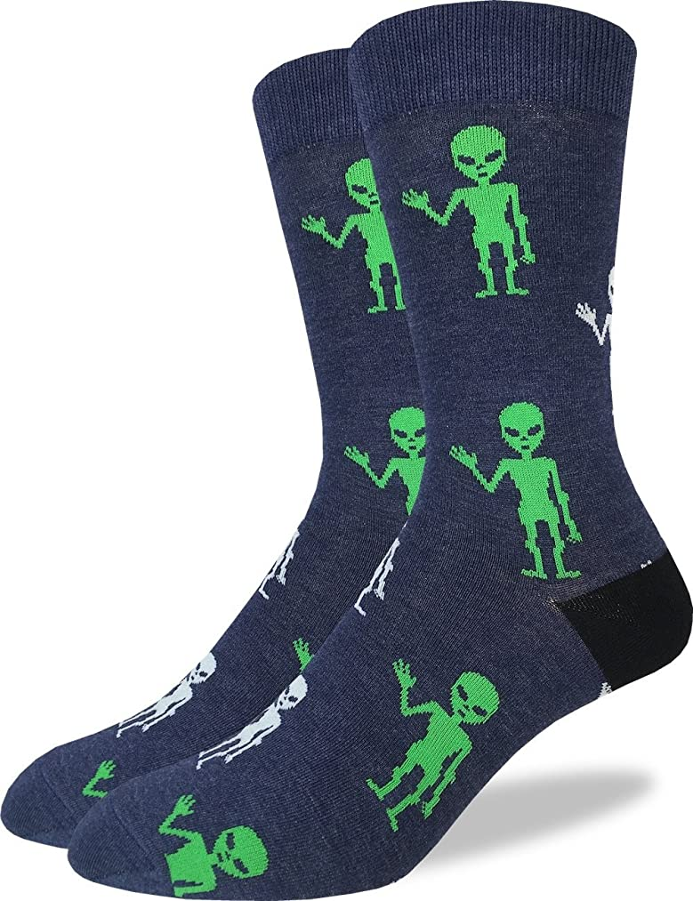 Good Luck Sock Men's Extra Large Aliens Socks - Shoe Size 13-17, Big & Tall