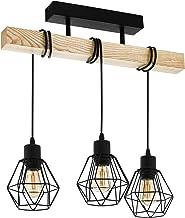 EGLO Townshend 5 Pendant Light, Steel, 60 W, Black, Brown Ceiling Light Black, Brown