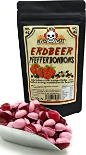 Erdbeer - Pfeffer Bonbons - 200g - Hotskala: 4 mittelscharf im ZIP Beutel - irrer Geschmack