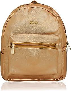 KLEIO Small Metallic PU Leather Backpack Handbag For Women Girls