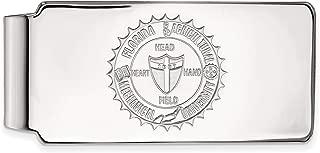 BGSU 10k White Gold LogoArt Official Licensed Collegiate Bowling Green State University Money Clip Crest