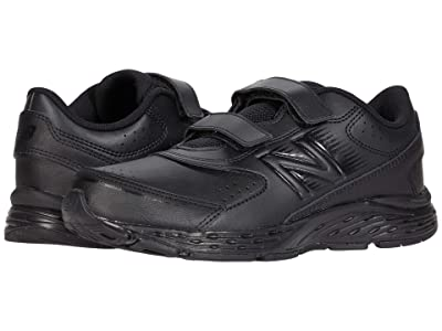 New Balance Kids 680v6 Uniform Hook-and-Loop (Little Kid/Big Kid) (Black/Black 1) Kids Shoes