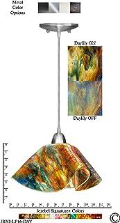 product image for Jezebel Signature Lily Pendant Large. Hardware: Nickel. Glass: Daylily