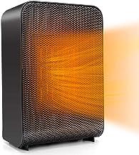 ZPPZ Calefactor Portátil Eléctrico, Calefactor Eléctrico Cerámico PTC Portátil, Ventilador de Calefactor Personal, Protección de Sobrecalentamiento y Volcado para Hogar y Oficina