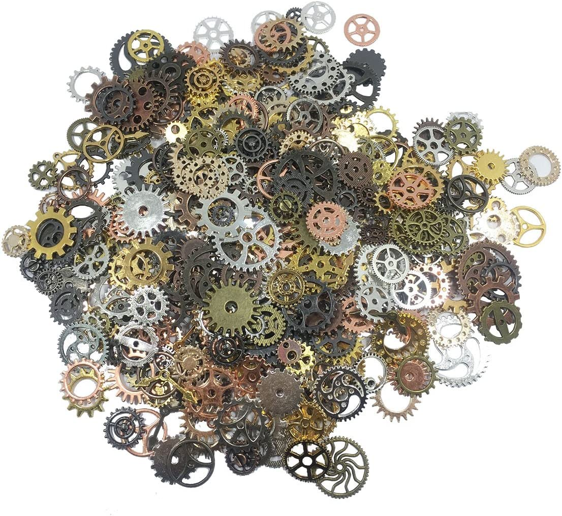 levylisa Bulk 500 Regular Gifts store Gram Small GearJewelry Wheel Scrap Gear Plated