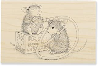STAMPENDOUS House Rubber Stamp, Nurse Mouse