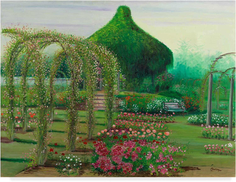 Trademark Fine Art pink Garden Trees by Cheryl Bartley, 14x19 Fine Art, Multicolor