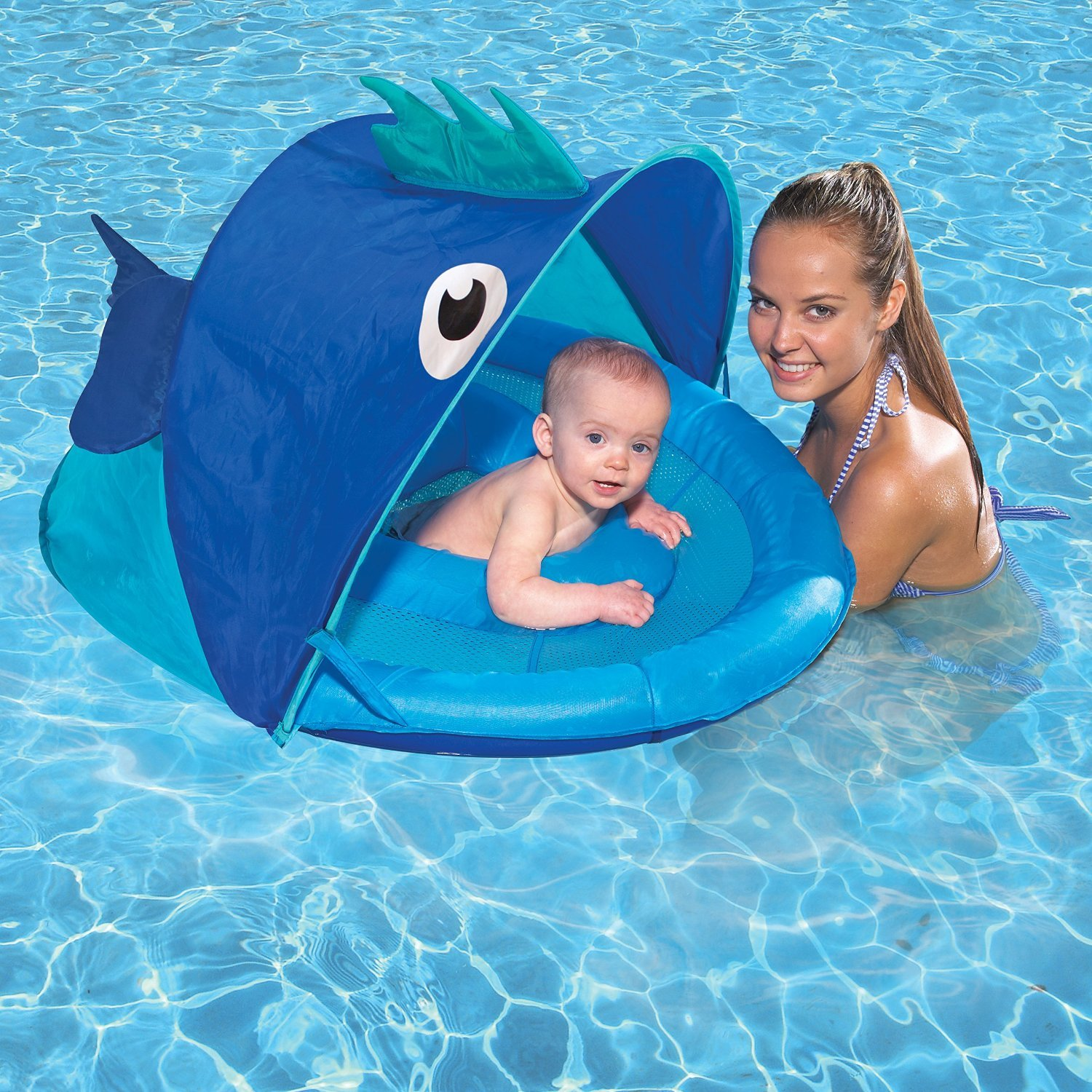 SwimSchool Fabric Canopy Extra Wide Inflatable