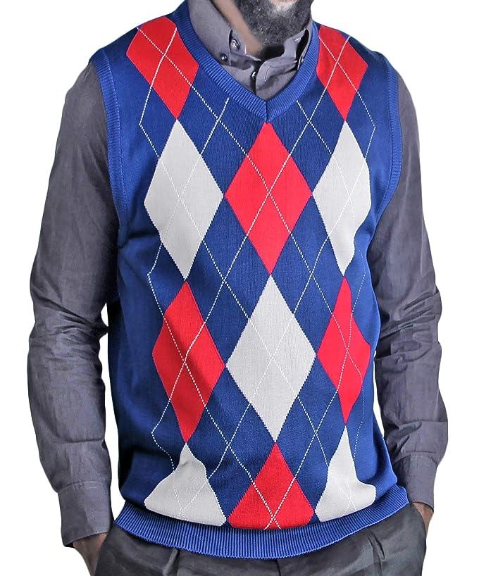 Blue Ocean Argyle Classic Sweater Vest
