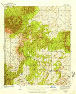 YellowMaps Capitan NM topo map, 1:62500 Scale, 15 X 15 Minute, Historical, 1934, Updated 1958, 20.9 x 17 in