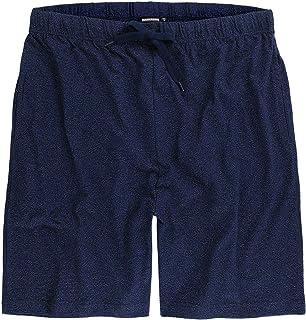 ADAMO Luis Series Men's Loungewear Shorts in Dark Blue Mottled up to Plus Size 12XL