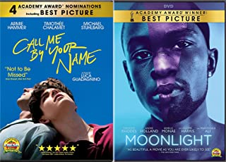 Pride Academy Award Wining Films: Moonlight + Call Me By Your Name 2 DVD Bundle