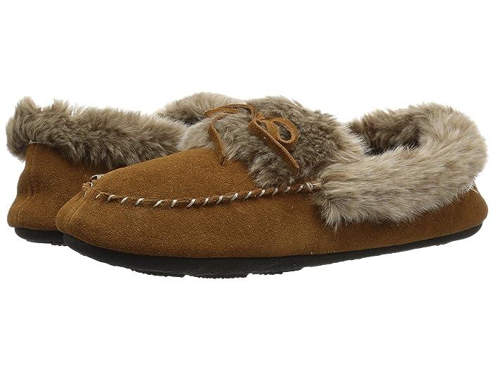 Acorn  Cozy Fur Moc (Cognac) Womens Moccasin Shoes
