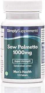 Saw Palmetto 1000mg - 120 Comprimidos - Apto para veganos ¡Bote para 2 meses! - SimplySupplements