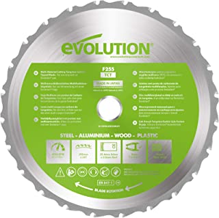 Evolution Power Tools F255TCT-24T (Fury) Multi-Material TCT Blade Cuts Wood, Metal and Plastic, 255 mm