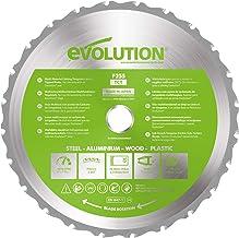 Evolution Power Tools F255TCT-24T (Fury) Multi-Material TCT Blade Cuts Wood, Metal and Plastic, 255 mm