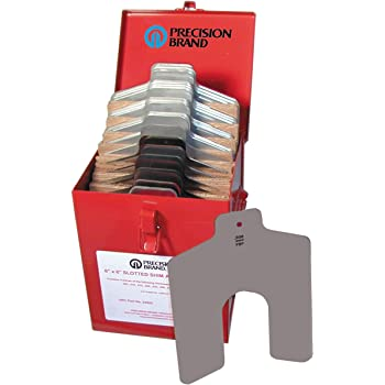 Pack of 260 Pack of 260 3 x 3 Precision Brand 698158429103 Stainless Steel Slotted Shim Full Assortment 3 x 3 Size B