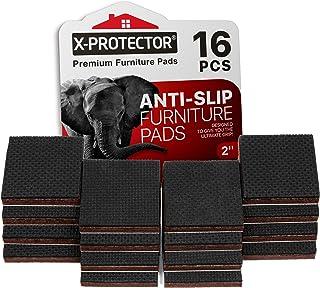 "X-PROTECTOR NON SLIP FURNITURE PADS – PREMIUM 16 pcs 2"" Furniture Grippers! Best.."