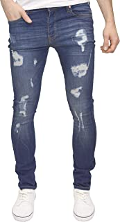 Men's Kato Ripped Stretch Super Skinny Distressed Jeans