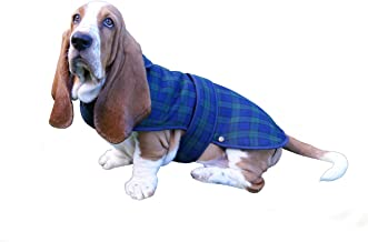 Glen Appin Lovely Shower-Proof Poly Viscose Black Watch Tartan Dog Coat with Fleece Lining- Available in 3 Sizes