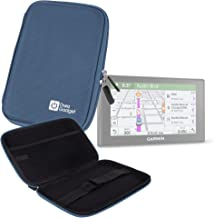 DURAGADGET Water Resistant Blue EVA Zip Case - Suitable for use with Garmin DriveSmart 70LMT & Nuvi 55LM Satnav