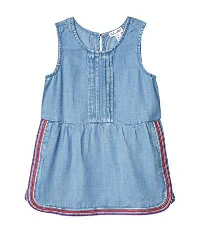 Splendid Littles Embroidered Chambray Dress (Toddler/Little Kids) (Chambray) Girl