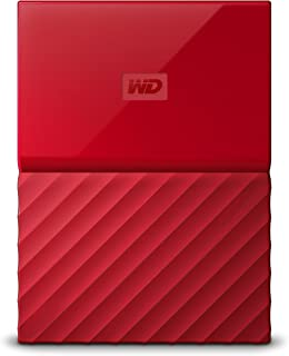 Western Digital My Passport - Disco Duro portátil y Software de Copia de Seguridad automática para PC, Xbox One y Playstation 4, Acabado estandar, Rojo
