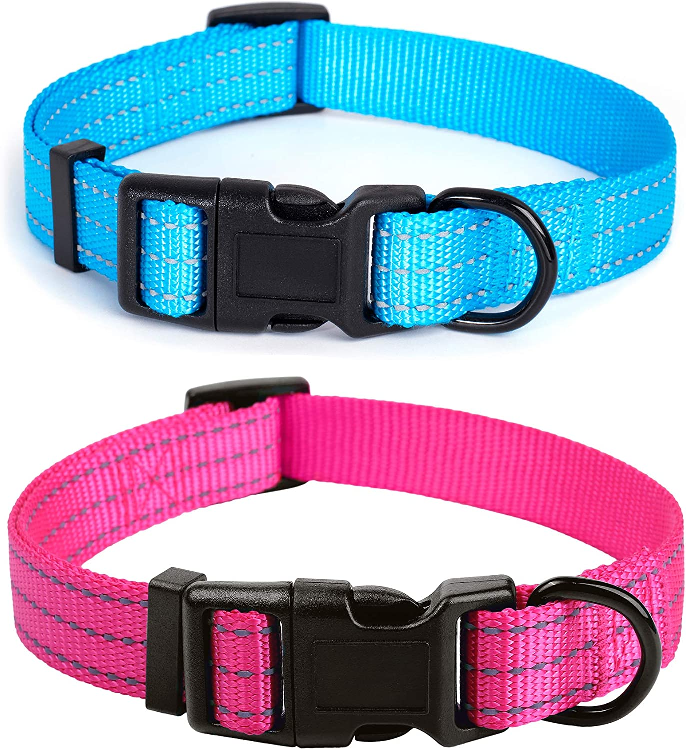 Mile High Life discount Dog Collar Fabric with Thick Nylon Complete Free Shipping Reflecti