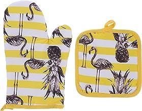Lurrose Conjuntos de Luvas E Pegadores De Panela Forno Luvas de Resistente Ao Calor Do Forno Baking Glove Luvas De Luvas d...