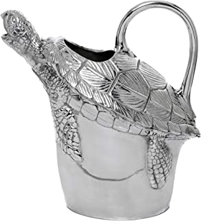 Arthur Court Designs Sea Turtle Water/Juice Pitcher Aluminum 10