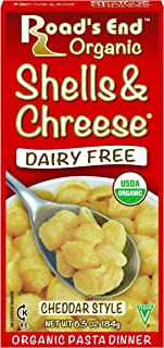 Road's End Organic Shells & Chreese, 6.5 Ounce Boxes (Pack of 12)