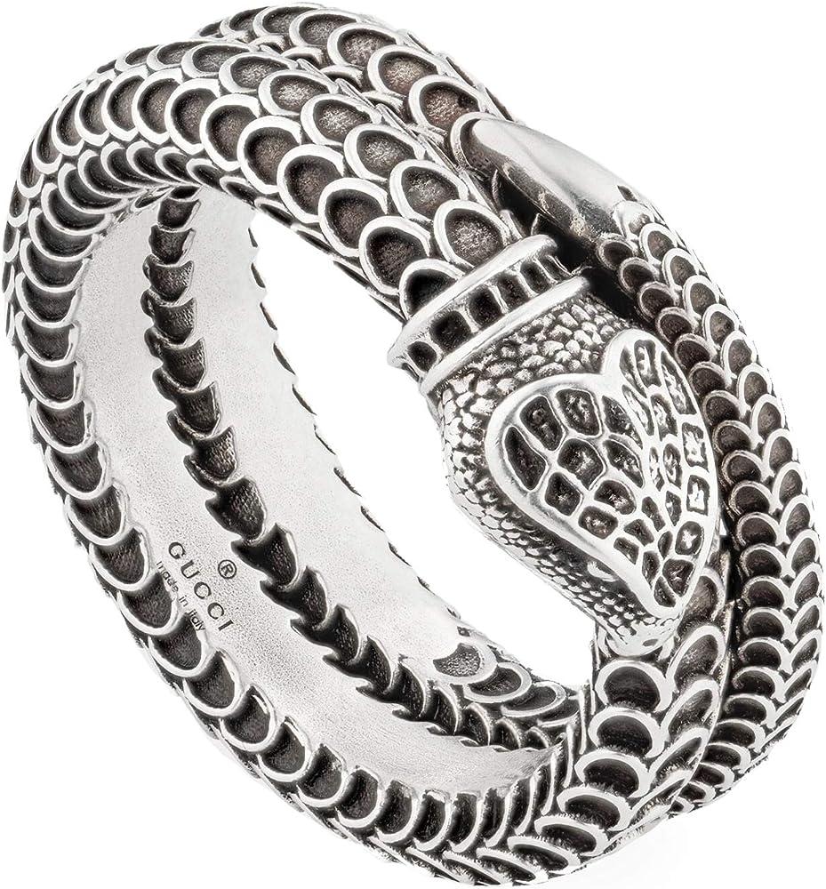 Gucci garden anello snake unisex in argento ybc455248001022