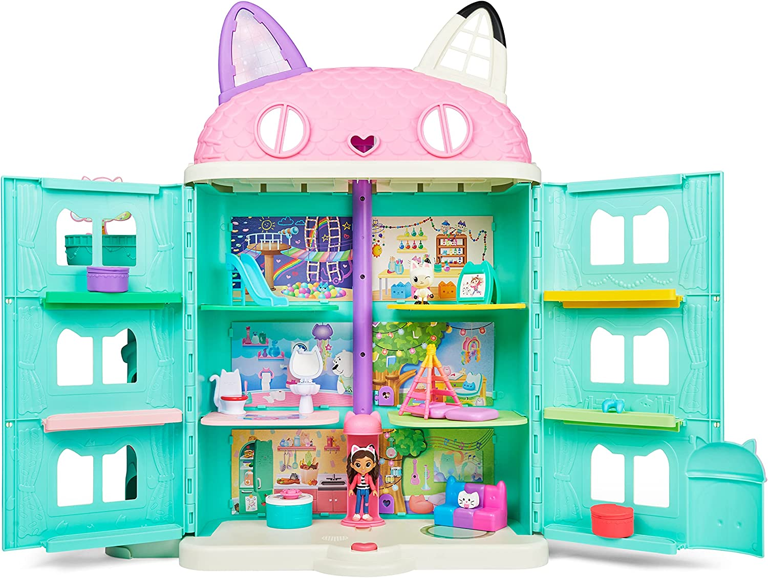 Gabby's Dollhouse Purrfect Dollhouse - Full view with contents
