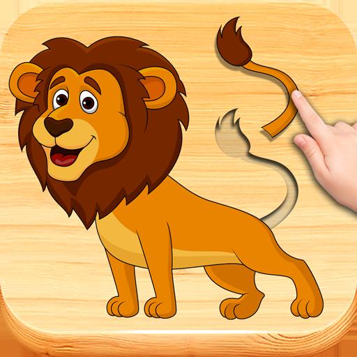 'Los animales divertidos # 2' - los niños rompecabezas para niños pequeños. Puzzles juegos niños 2-4 años.