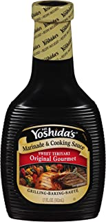 Mr. Yoshida's Original Sweet Teriyaki Gourmet Marinade & Cooking Sauce (17 oz Bottles, Pack of 6)