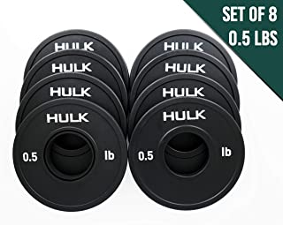 Hulk Olympic Fractional Plates by Wick & Wire - Micro Weight Plates for Barbell or Dumbbell