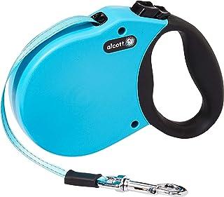 Alcott RLSH AA SM BL 16' Retractable Leash Up To 45 lb, Small, Blue