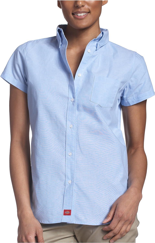 Dickies Juniors Oxford Short Sleeve Button Down Shirt- School Uniform
