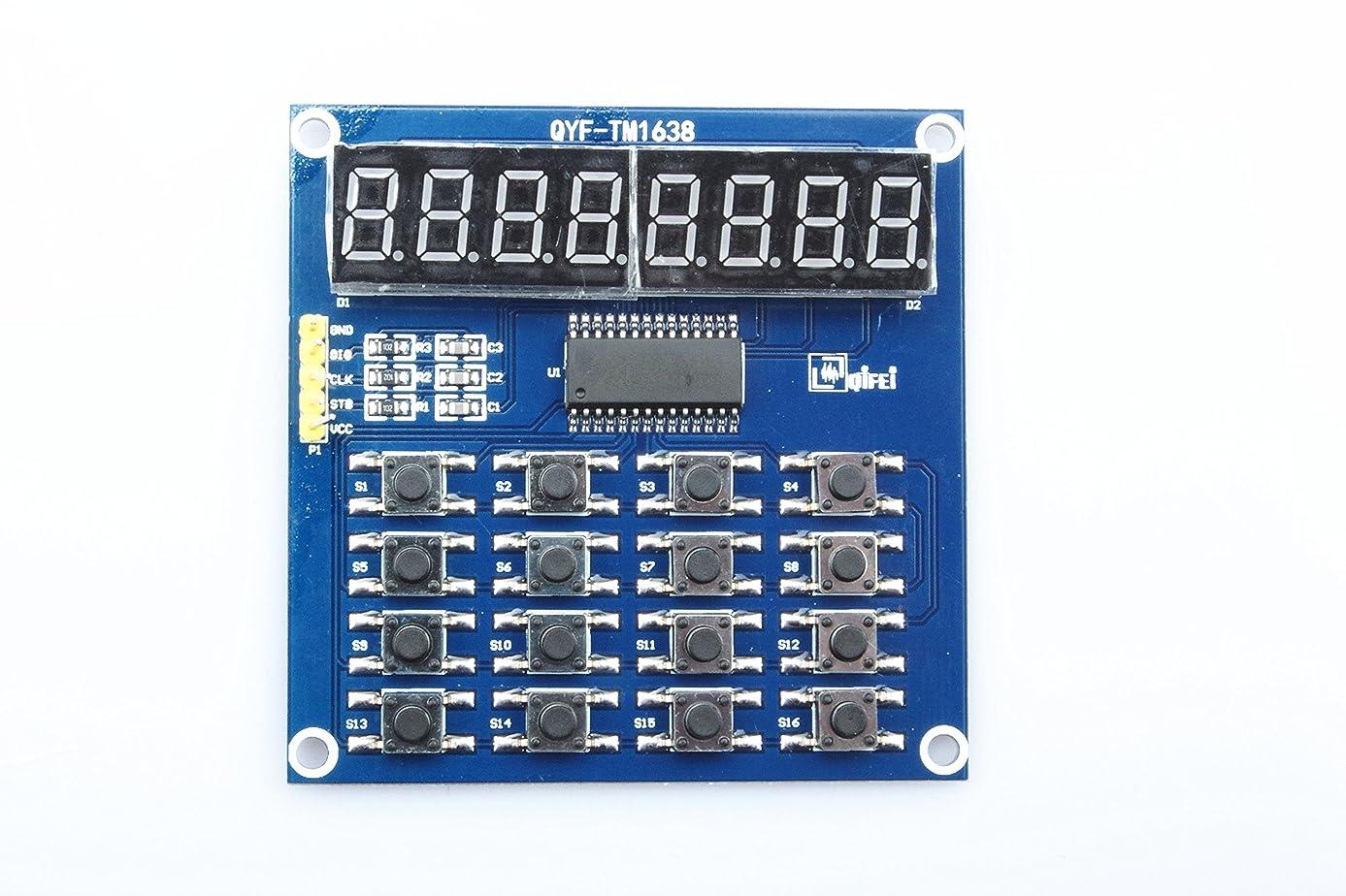 KNACRO TM1638 8 Bits three-wire control LED Digital Tube Display Module Keyboard Scan and Display Module Single chip microcomputer module