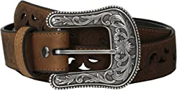 Ariat Scroll Paisley Pierced Belt