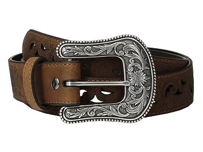Ariat Scroll Paisley Pierced Belt (Brown) Women