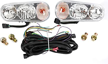 ECOTRIC Universal Halogen Snow Plow Lights Kit for Boss Western Meyer Blizzard Curtis