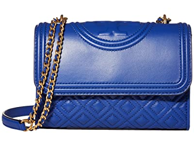 Tory Burch Fleming Small Convertible Shoulder Bag (Nautical Blue) Shoulder Handbags