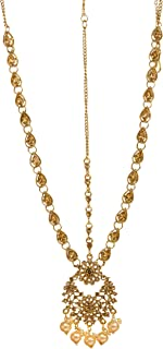 Bindhani Bollywood Style Wedding Gold Plated Maang Tikka Bridal Indian Matha Patti Traditional Mang Tika Jewellery Damini ...