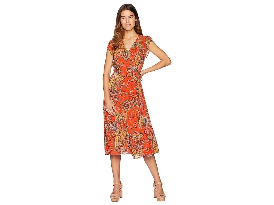 Juicy Couture Rustic Paisley Wrap Dress (Hazy Summer Rustic) Women