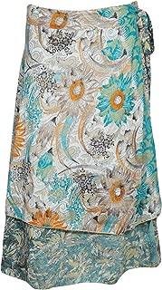 Mogul - Falda de Playa Reversible para Mujer, diseño Floral, Color ...