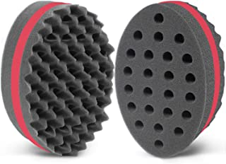 (2 pcs, Red) - AIR TREE Hair Sponge Brush and Curl for Hair Magic Barber Dreads Locking Afro Twist Products Black Men Curl...
