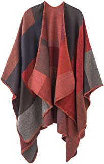 Warm Shawls And Wraps Open Front Cardigan Elegant Solid Color Poncho Cape Coat