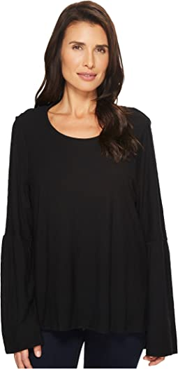 TWO by Vince Camuto - Bell Sleeve Cotton Modal Slub Top