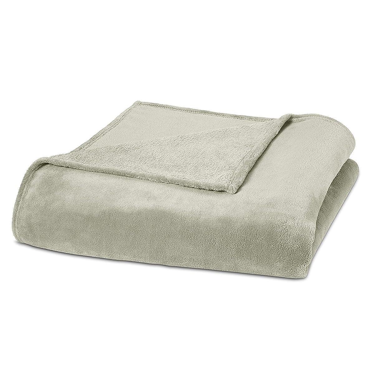 口述獲物連合SuperソフトコーラルフリースBlanketファジーWarm and快適なすべての年ベッド毛布ツインサイズ/クリーム